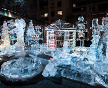 Esta temporada podrás ver increíbles esculturas de hielo en Toronto